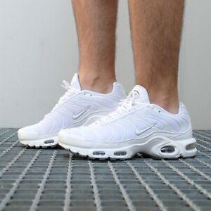 Details zu Nike Air Max Plus TN Schuhe Sneaker Herren Haifisch 604133 139  Weiß