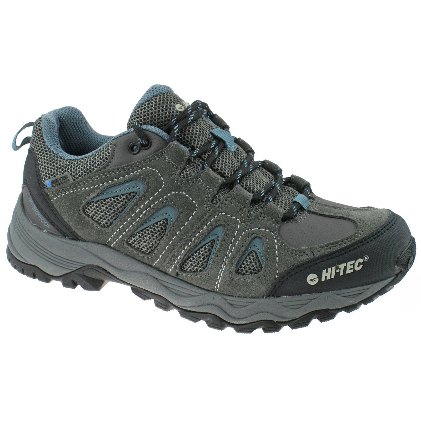 Herren HI-TEC Signal Hill wasserfest grau/blau Schuhe Wandern Größe 7-13