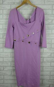 Versace Collection Pencil dress Purple Sz 48 BNWT 100% authentic