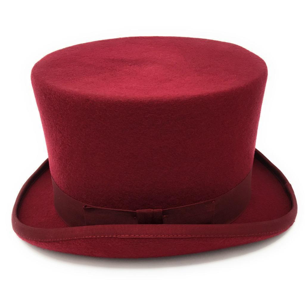 Maroon Top Top Top Hat - Premium Wool Felt - Lined | Good Design  e57dff