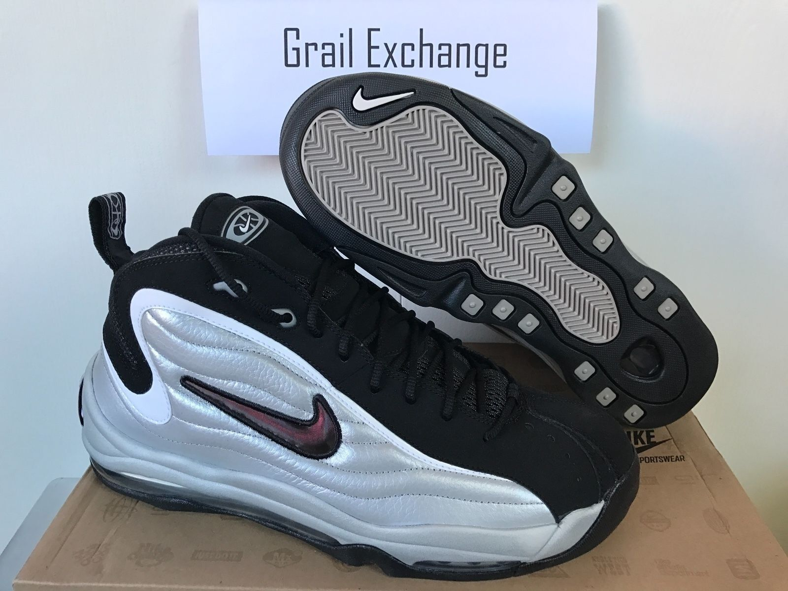 NEW Nike Air Total Max Uptempo LE 366724-001 Silver Pippen Duncan DS Rare Sz 11