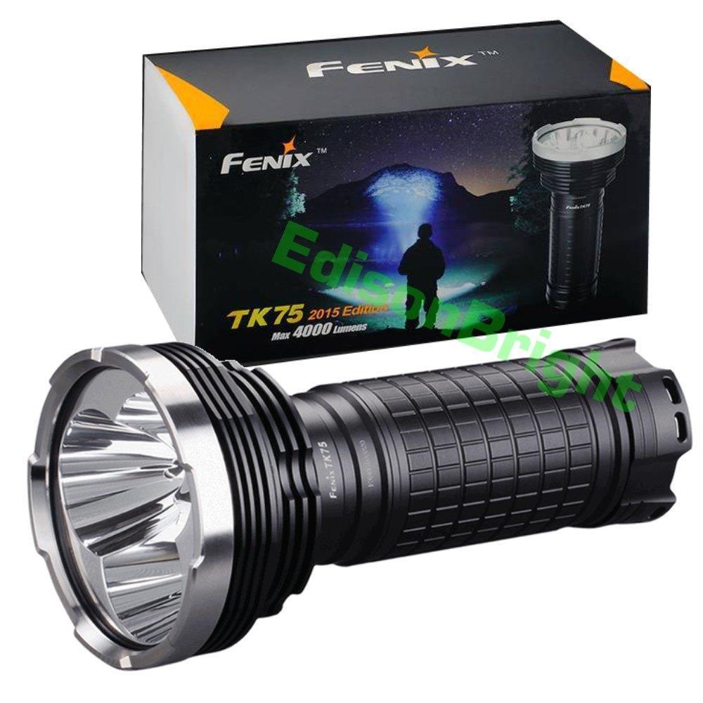 Fenix TK75 2015 four CREE XM L2 U2 LED 4000 lumen flashlight/searchlight