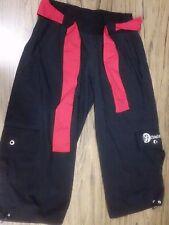 ZUMBA WEAR Women's Black Dance Studio Cargo PANTS Size Large  #10690