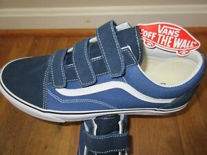 84d38b0712 Vans Mens Old Skool V Dress Blues True Navy Canvas Suede Skate shoes ...