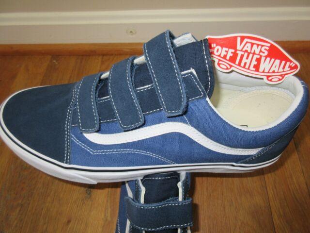 52c51bf4 Vans Mens Old Skool V Dress Blues True Navy Canvas Suede Skate shoes Size  11.5