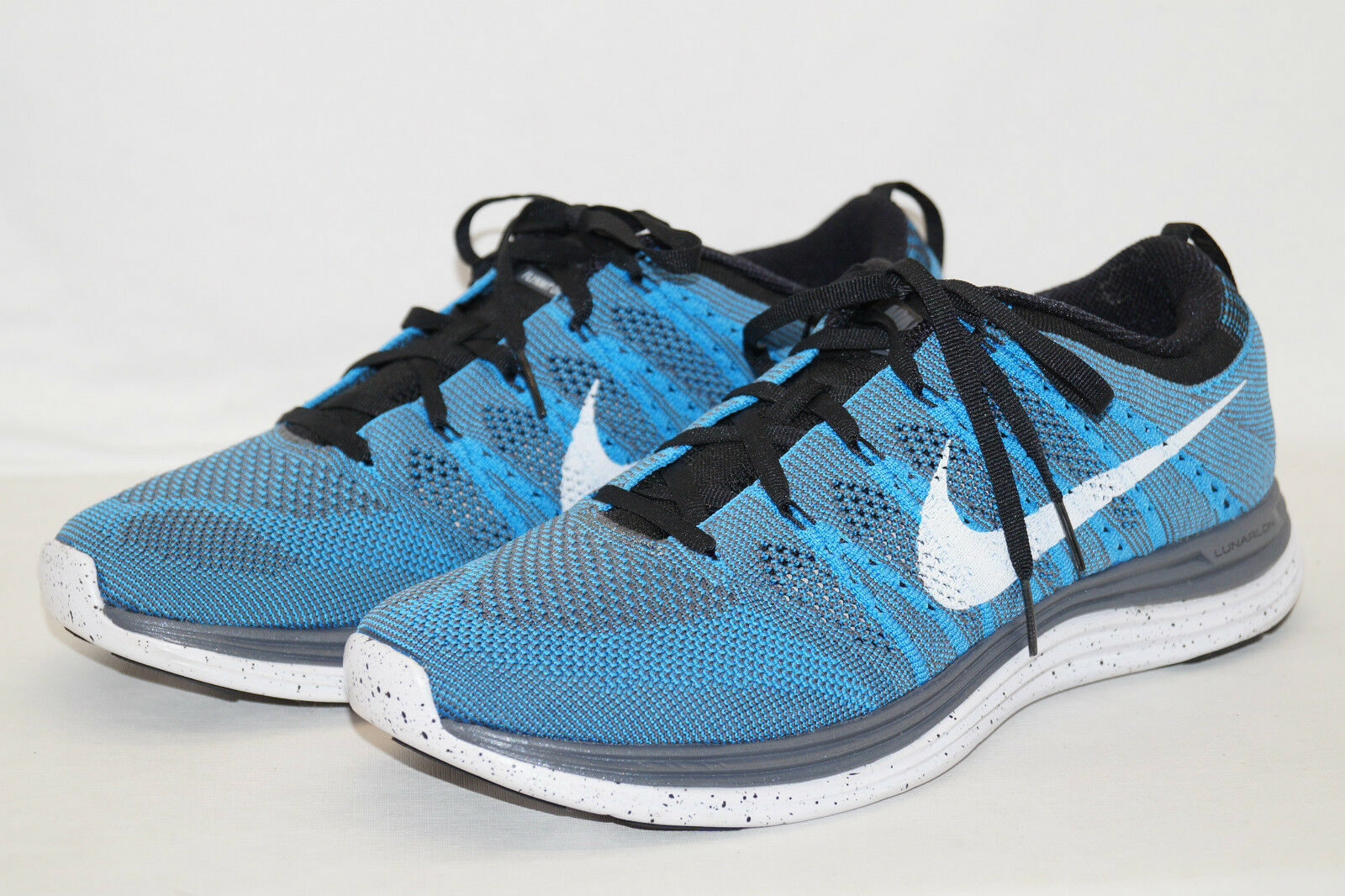 Nike flyknite one 1 Lunarlon talla 43 8,5 azul blancoo gris 554887-411