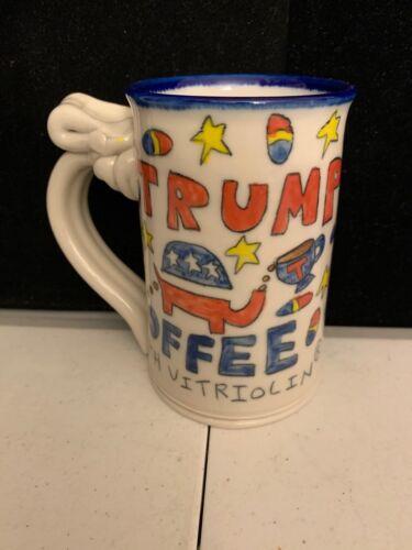 Tom Edwards pottery trump coffee mug w/ vitriolin MAGA Republican