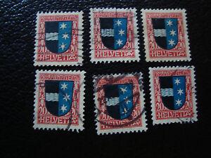 Switzerland-Stamp-Yvert-and-Tellier-N-224-x6-Obl-A14-Stamp-Switzerland