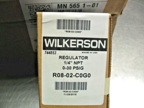 WILKERSON R08-02-C0G0  1/4 NPT 1-30 PSIG REGULATOR  Sealed Factory Box
