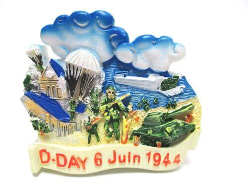 Normandie Magnet D-Day 6.Juni 1944 Poly Souvenir Frankreich