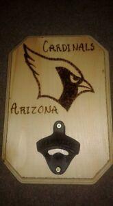 Cardinals Wood Bottle Opener