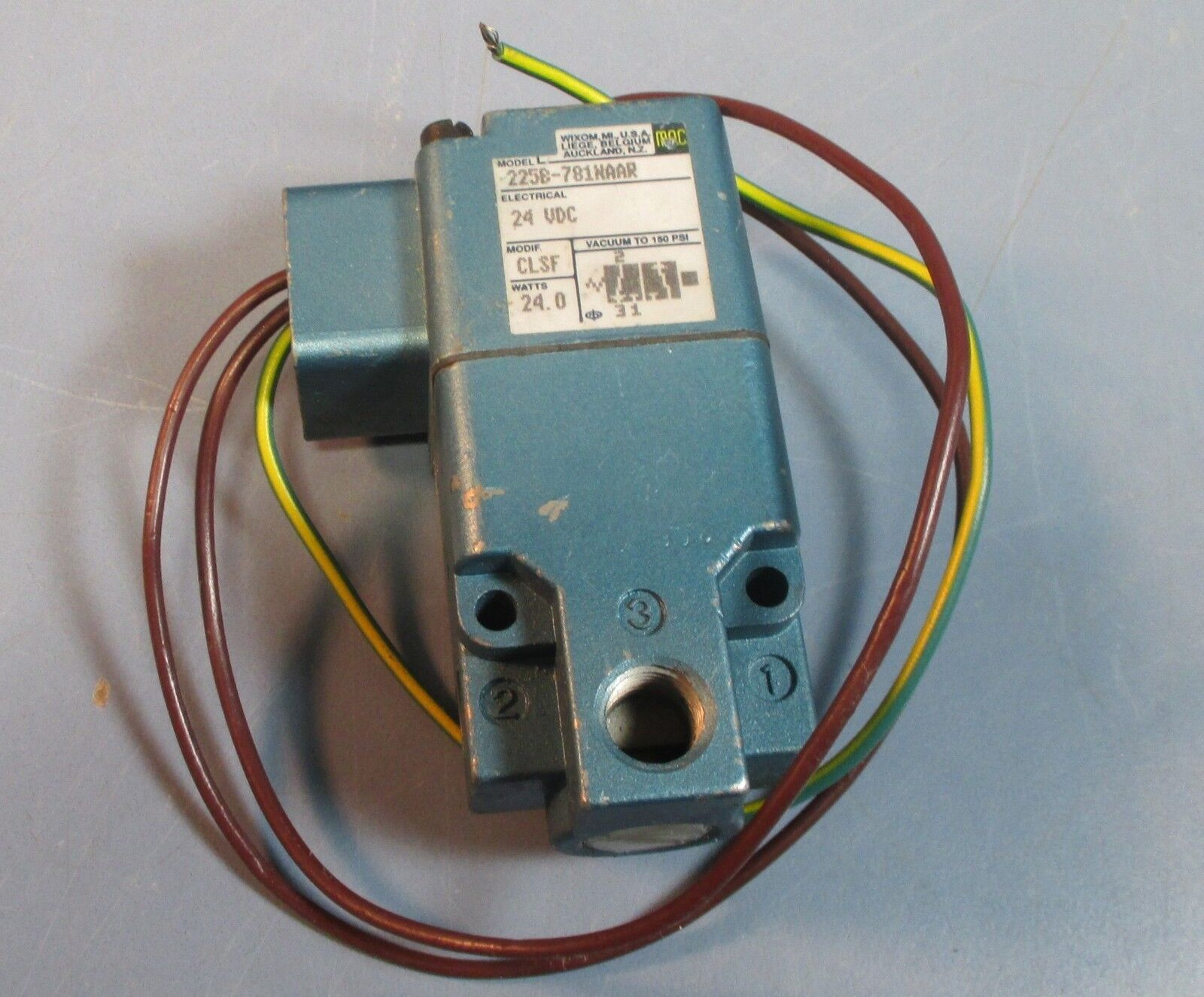 Valves Manifolds Hydraulics Pneumatics Pumps Business Mac Solenoid Valve Wiring 225b 781naar 24 Vdc 3 Wire Connection Nwob