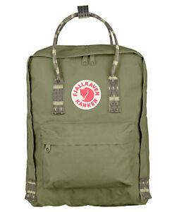 FJALL-RAVEN-Tagesrucksack-034-Kanken-034-green-folk-pattern-NEU