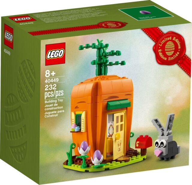 Lego Lot of Easter Bunny's Carrot House Set 40449 & Easter Chick Egg 30579 NEW