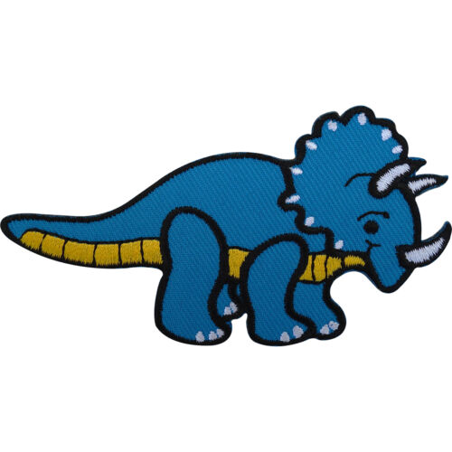 Sew On Badge / Iron On Patch Dinosaur Embroidered Triceratops for Clothing Bags