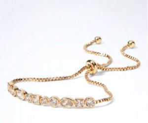 Image Is Loading Nwt Banana Republic Cubic Zirconia Bracelet Gold