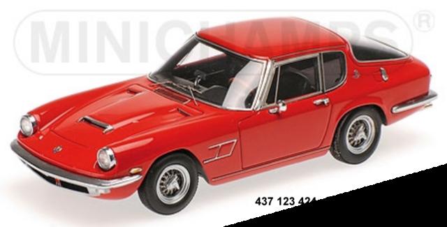 Minichamps 437123424- MASERATI MISTRAL Coupè – 1963 – rosso 1:43