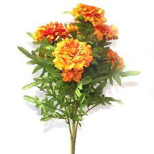 Artificial Orange Marigold Bush - 40 cm - Spring and Summer Flower Bedding Plant