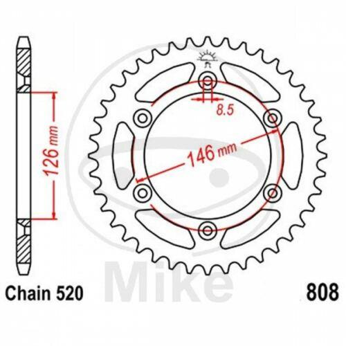 CORONA Z39 520 NERA D.INT 126 727.15.13 SUZUKI 400 DR Z SM 2005-2008