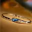 Bracciale-Braccialetto-Donna-Cristallo-Zircone-Swarovski-Azzurro-Strass-Coppia miniatura 3