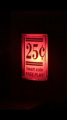 2 Pack Red Arcade 25 Cent Coin LED Push Button for MAME Arcade 1up Mod