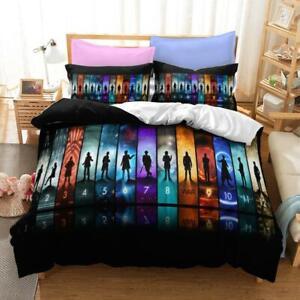 3D TARDIS Check Doctor Who Bedding Set Doona Cover Duvet Cover Pillow Case 2#