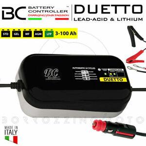 BC DUETTO MANTENITORE/CARICABATTERIE 12V PIOMBO/LITIO LiFe PO4 AUTO MOTO 100Ah