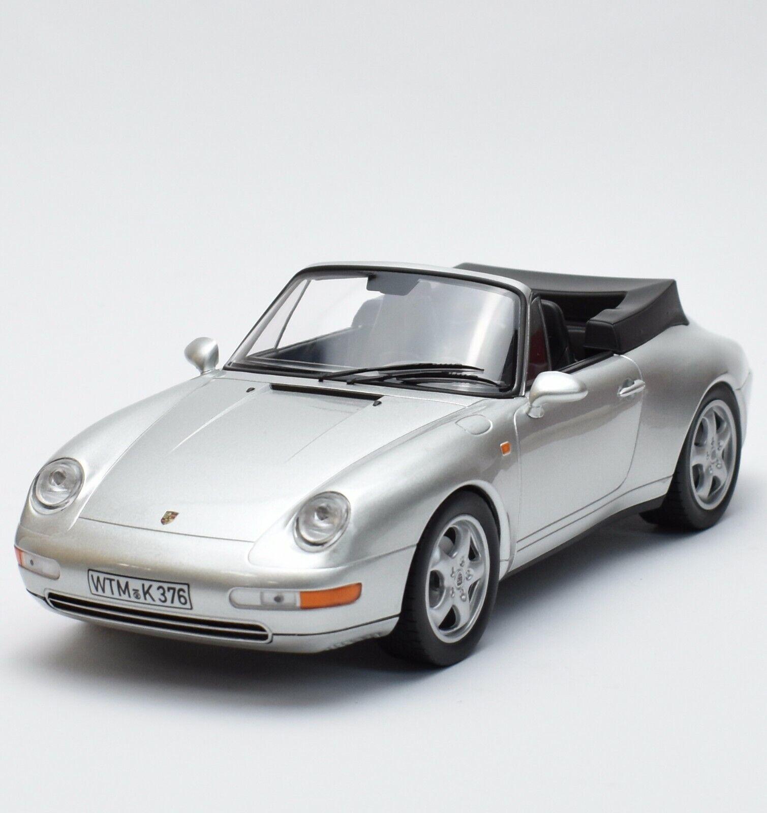 NOREV PORSCHE 911 Carrera Auto Sportiva anno 1993 in argentoo laccato 1 18, OVP, b318