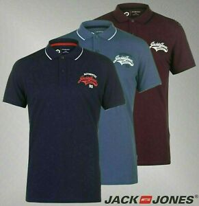Mens-Jack-And-Jones-Lightweight-Top-Core-Heritage-Polo-Shirt-Sizes-from-S-to-XXL