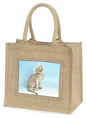 Devon Rex Kätzchen Große Natürliche Jute-einkaufstasche Weihnachten I, AC-174BLN