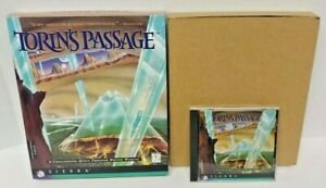 TORIN-039-S-PASSAGE-1995-SIERRA-CD-ROM-Game-for-Windows-PC-Mint-Disc-Big-Box-Complet