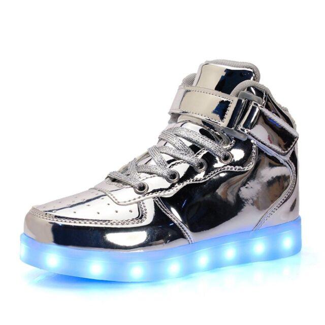 Girls High Top Led Sneakers Light