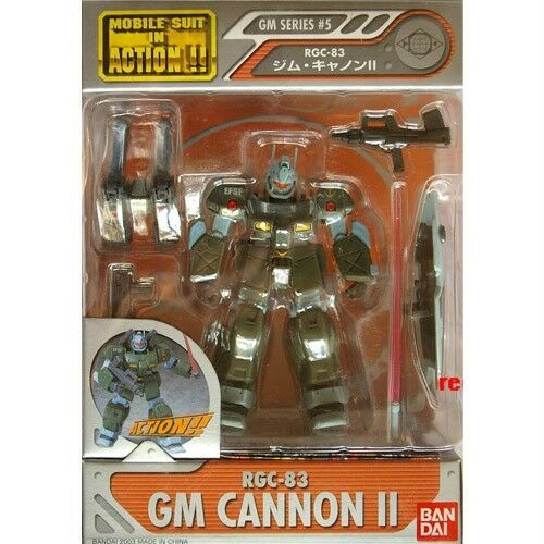 Bandai Gundam bilen Suit in Action Figur MSIA GM Series RGC -83 GM Cannon II