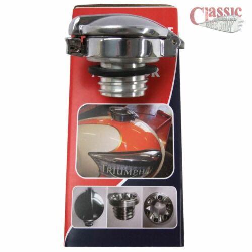 TRIUMPH Bonneville Monza Style Fuel Cap With Hinckley Gas Tank Adaptor