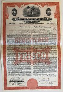 St-Louis-San-Francisco-Railway-Company-gt-1950s-FRISCO-bond-certificate