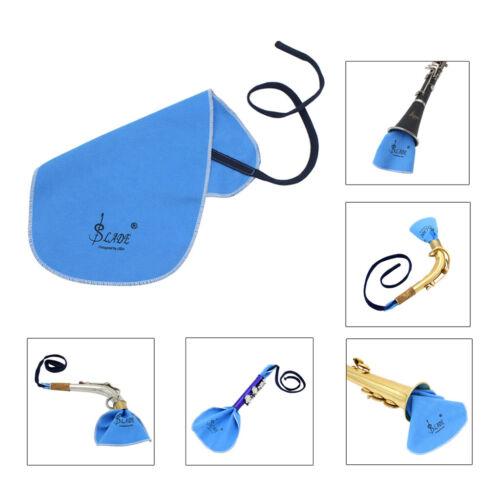 Hirschleder Reinigungstücher Set Für Saxophon Blasinstrumente Blau