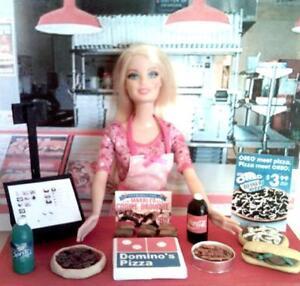 Muneca Barbie Tamano Dominos Pizza Restaurante De Comida Rapida