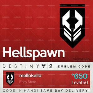b06f74546ee Image is loading Destiny-2-Hellspawn-emblem-IN-HAND-SAME-DAY-