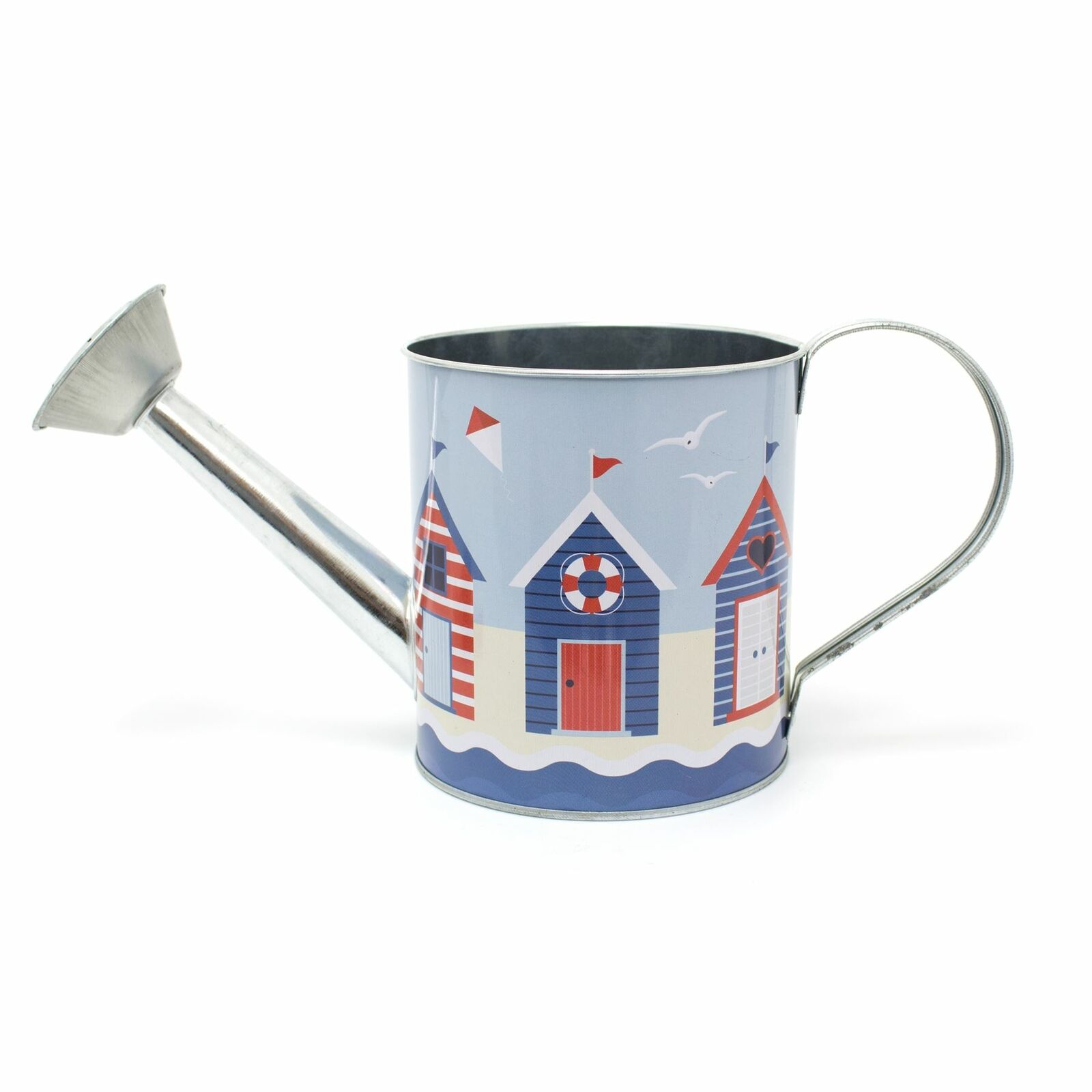 Watering Can Beach Huts Design | Tin Watering Sprinkler Can Nautical Decoration
