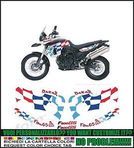 kit adesivi stickers compatibili f800 gs triple black 2012