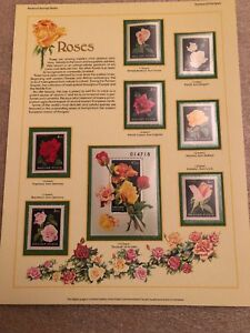 Postal-Commemorative-Society-World-Of-Stamps-Series-Stamps-of-Hungary-Roses-MNH