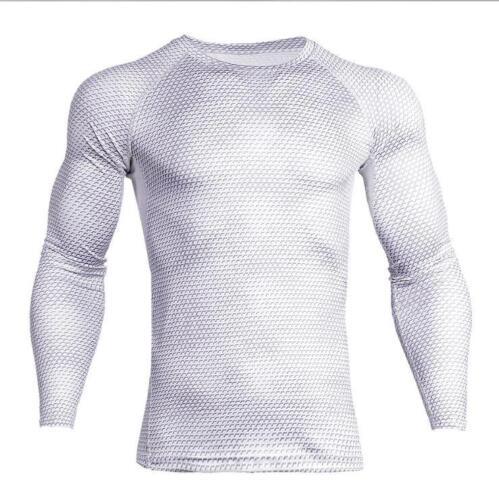 New Long Sleeve Sport Shirt Men Quick Dry Running T-shirts Snake Gym Clothing