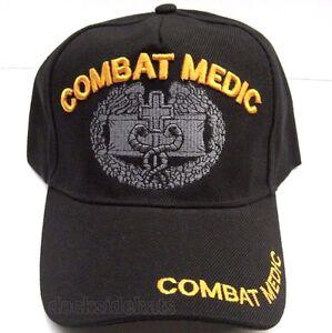 6e25f3e9681 U.S. COMBAT MEDIC VETERAN Cap Hat New Black Military Free Shipping ...
