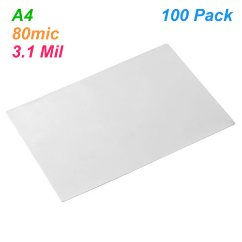 A4 Laminating Film Pouches Protection Sheet 3.1mil 100pc//set for Photo V5Y4