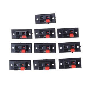 Posizioni-10X-2-Presa-a-molla-Jack-Carica-terminali-altoparlanti-audio-SA