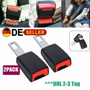 2x-Universal-Auto-Sicherheitsgurte-Verstellbar-Stopper-Gurtschloss-Stecker