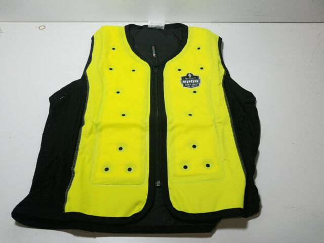 Ergodyne 2X Lime Chill-Its 6685 Polyester Evaporative Cooling Vest