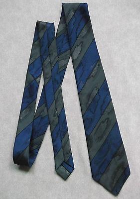 Obbediente Vintage Cravatta Da Uomo Cravatta St Michael M&s Stile Retrò Blu Scuro Grigio-mostra Il Titolo Originale