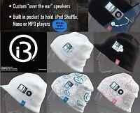 I360 Sound Beanie Ipod Mp3 Hat On-ear Headphones Ski Snowboard Workout