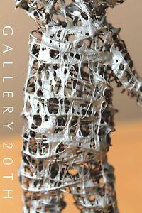 MID CENTURY MODERN BRUTALIST MOLTEN METAL SCULPTURE! ABSTRACT VTG RETRO 50'S ART